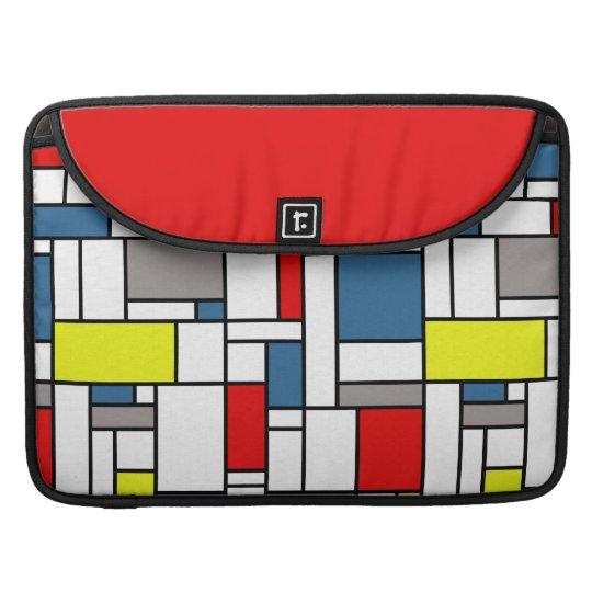 Mondrian style design sleeve for MacBook pro