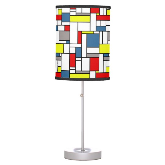 Mondrian style design table lamps