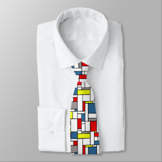 Mondrian style design tie