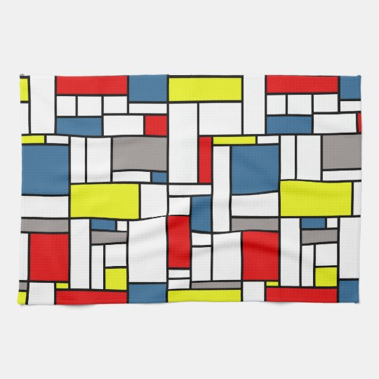 Mondrian style design towels
