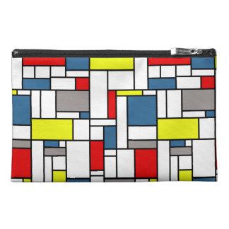 Mondrian style design travel accessory bag
