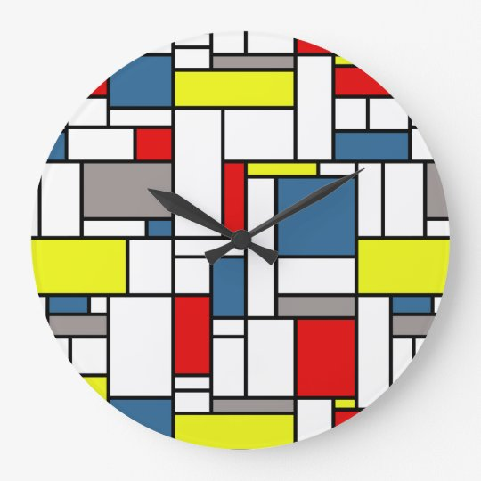 Mondrian style design wallclock