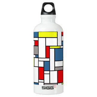 Mondrian style design water bottle
