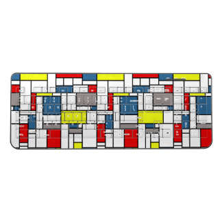 Mondrian style design wireless keyboard