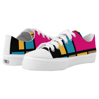 Mondrian style modern cool colors 1 Low-Top sneakers