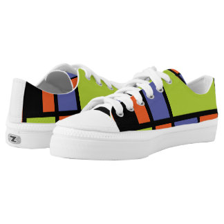 Mondrian style modern cool colors 2 Low-Top sneakers