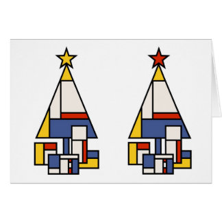 Mondrian Tree in stereo Card