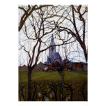 Mondrian - Village Church Poster