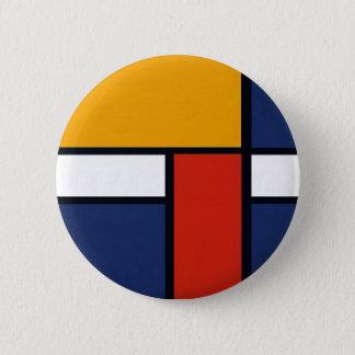 Mondrian Yorkie 2 Inch Round Button
