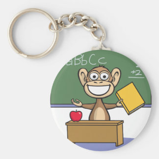 Moneky Teacher Keychain