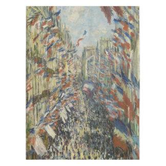 Monet 1878 The Rue Montorgueil in Paris Tablecloth