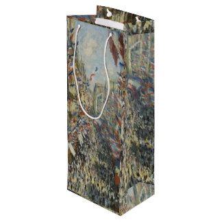 Monet 1878 The Rue Montorgueil in Paris Wine Gift Bag
