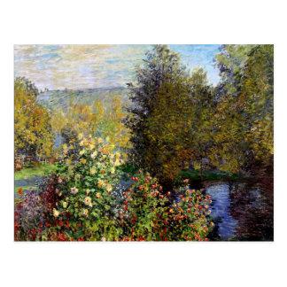 Monet - A Corner of the Garden at Montgeron Postcard