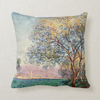 Monet: Antibes in the Morning artwork Throw Pillow