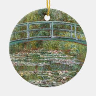 Monet Art Bridge over a Pond of Water Lilies Ceramic Ornament