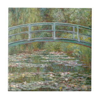 Monet Art Bridge over a Pond of Water Lilies Ceramic Tile