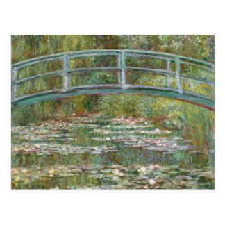 Monet Art Bridge over a Pond of Water Lilies Postcard