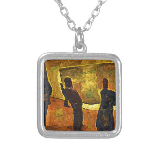 Monet at the Museum of Modern Art NYC Silver Plated Necklace