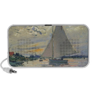 Monet boat water Sailing in Le-Petit-Gennevillie Travelling Speakers
