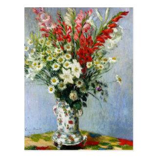 MONET Bouquet of Gladiolas Postcard