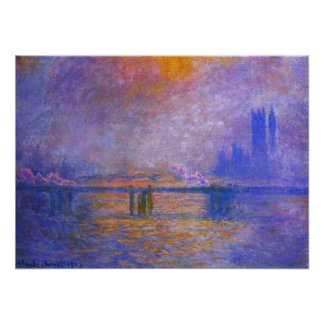 Monet Charing Cross Bridge Poster