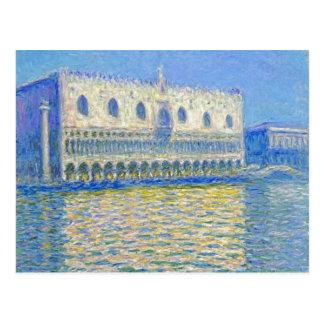 Monet Doge's Palace Vintage Impressionism Postcard