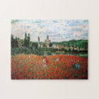 Monet Field of Red Poppies Puzzle