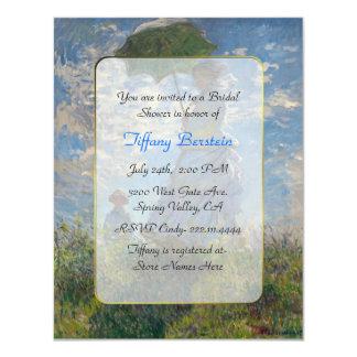 "Monet Fine Art Bridal Shower 4.25"" X 5.5"" Invitation Card"