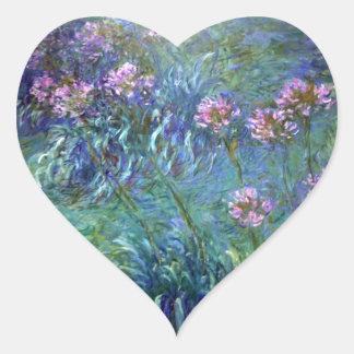 Monet Fine Art Flowers Agapanthus Sticker