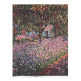 Monet flowers Artist Garden Giverny vines art Postcard