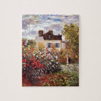 Monet Garden in Argenteuil Fine Art Jigsaw Puzzle