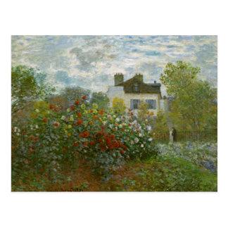 Monet Garden in Argenteuil Fine Art Postcard