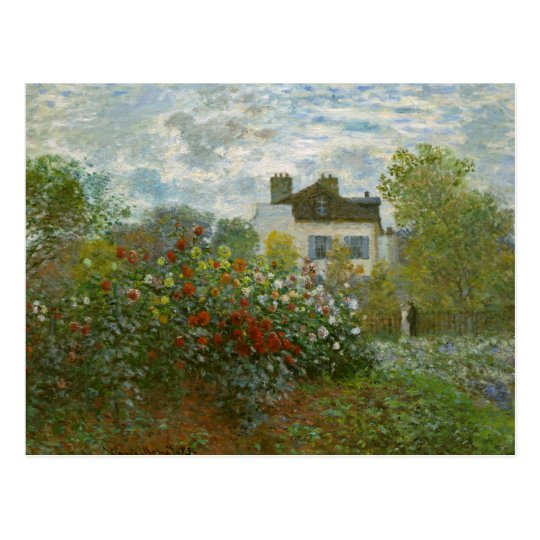 Monet Garden in Argenteuil Fine Art Postcard