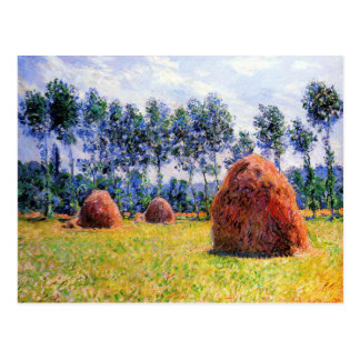 Monet - Haystacks at Giverny, 1884 Postcard