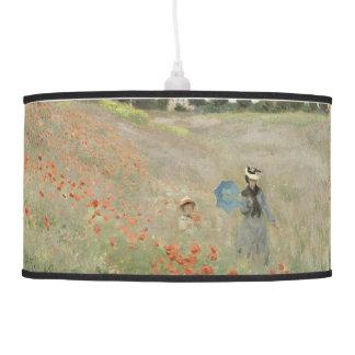 Monet Impressionism Poppies Wildflower Flower Lamp