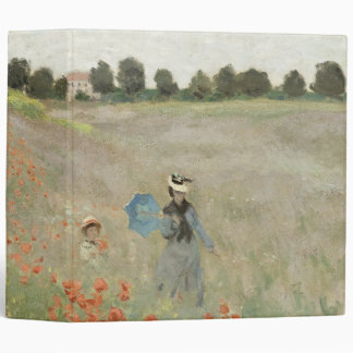 Monet Impressionism Poppy Field Avery Binder