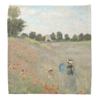Monet Impressionism Poppy Field Wildflower Bandana