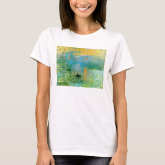 Monet Impressionism Sunrise T-shirt