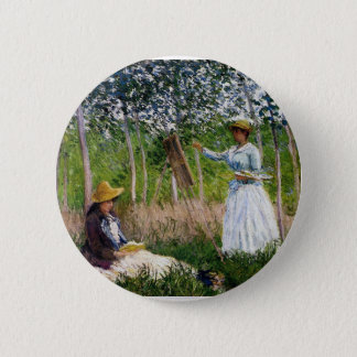 Monet In The Woods 2 Inch Round Button