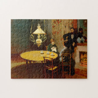 Monet Interior After Dinner Fine Art Jigsaw Puzzle