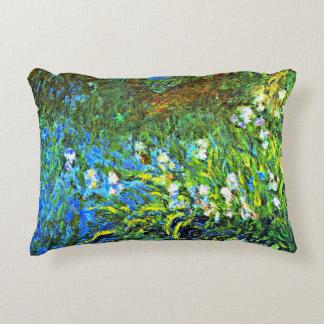 Monet - Iris at the Sea Wall Decorative Pillow