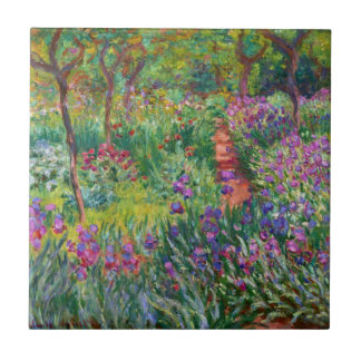 Monet Iris Garden at Giverny Tile