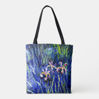 Monet - Irises Tote Bag