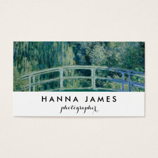 Monet Japanese Bridge Fine Art Personalized Text Business Card