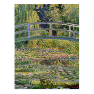 Monet Japanese Bridge Water Lily Pond Landscape Postcard