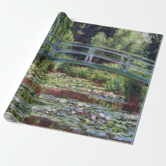 Monet Japanese Footbridge and the Water Lily Pool Wrapping Paper