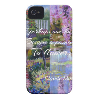 Monet message about flowers. iPhone 4 cover