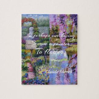 Monet message about flowers. puzzle