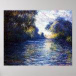 Monet Morning on the Seine Fine Art Print Poster