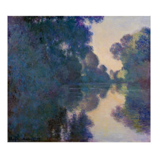 Monet, Morning on the Seine, near Giverny Poster